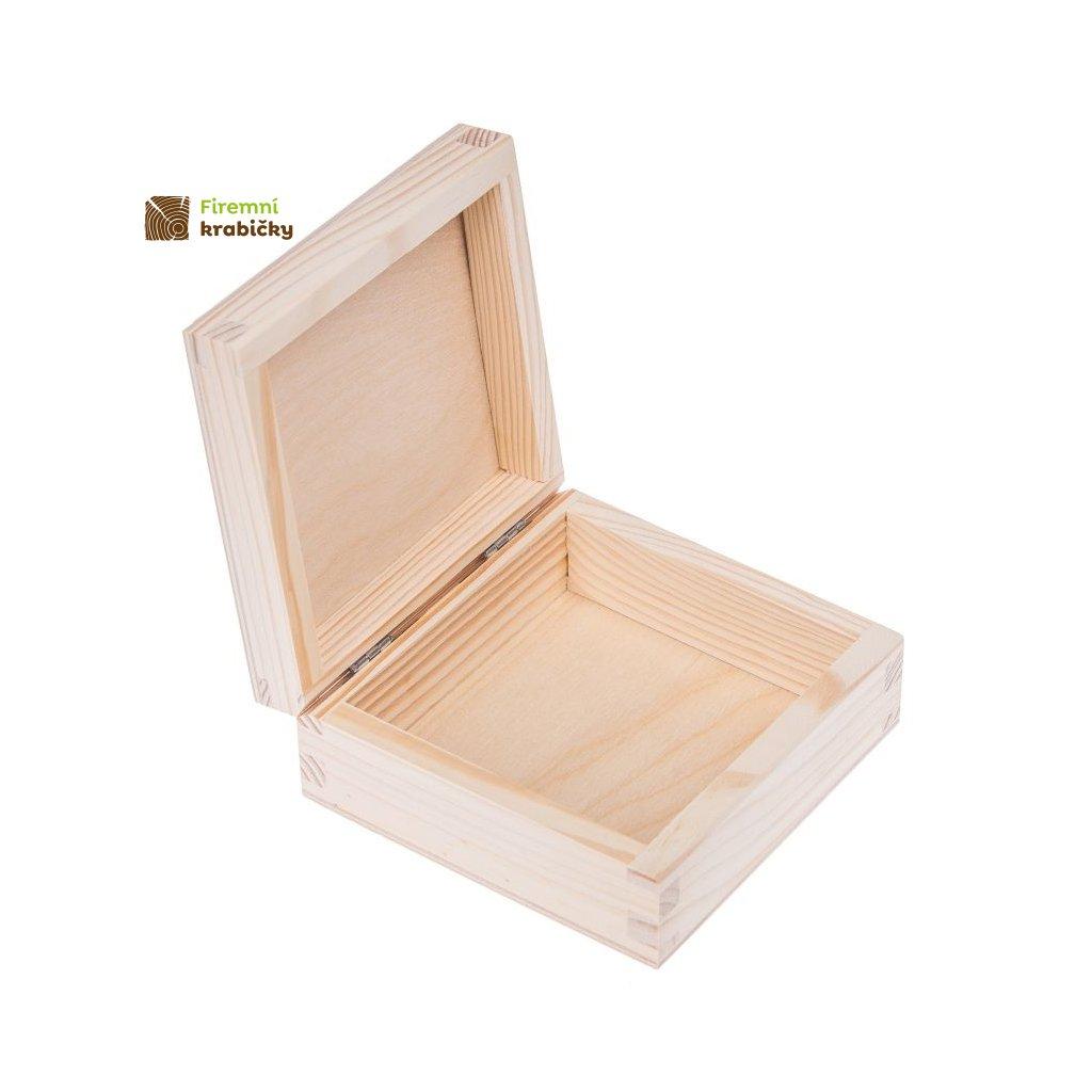 drewniane pudelko pojemnik 12x12 cm