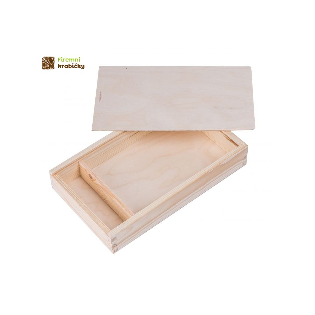drewniane pudelko na zdjecia i pendrive 15x21 cm
