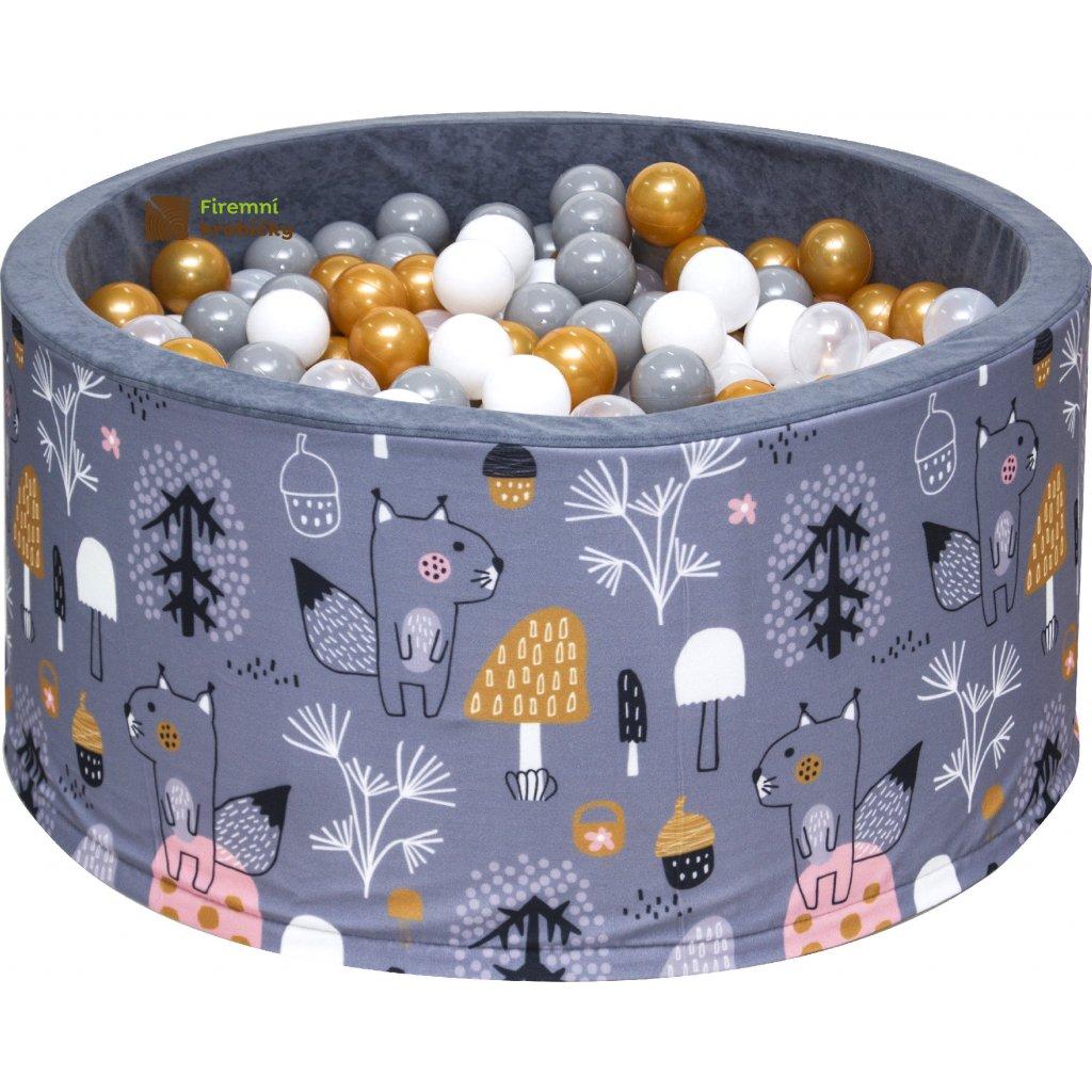 Dětský bazének s míčky - les - 200 ks míčků