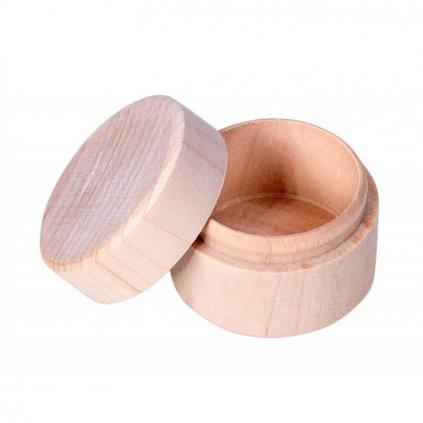 pudeleczko drewniane na zabek okragle