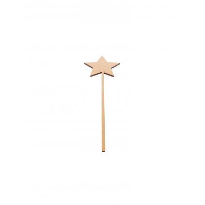 drewniana gwiazdka na piku