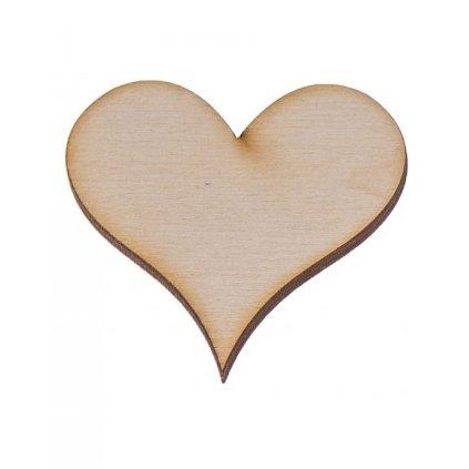 drewniane serce 2 4x4 cm 1 szt