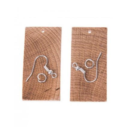 kolczyki drewniane prostokatne 50x25 cm