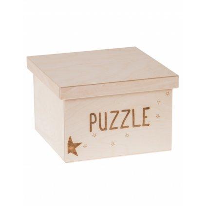 12236 dreveny box na hracky puzzle gravir maly