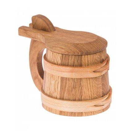 kufel drewniany z deklem