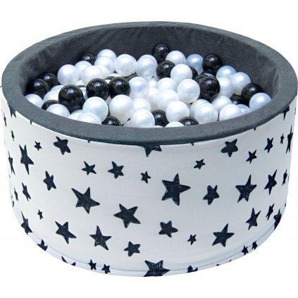 14675 detsky bazenek s micky cerno bila hvezdicka 200 ks micku