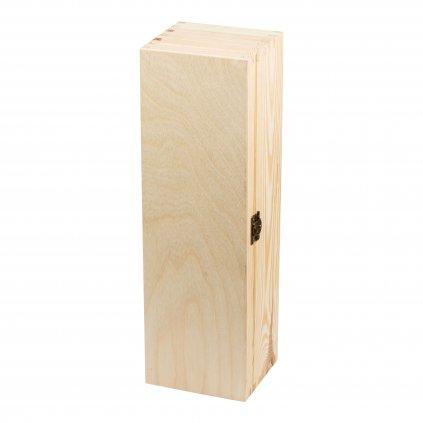 13355 drevena krabicka box na lahev vina