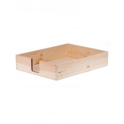 drewniany pojemnik organizer na dokumenty a4