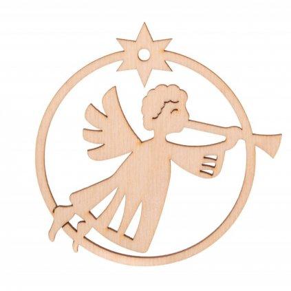 bombka zawieszka na choinke aniolek z trabka