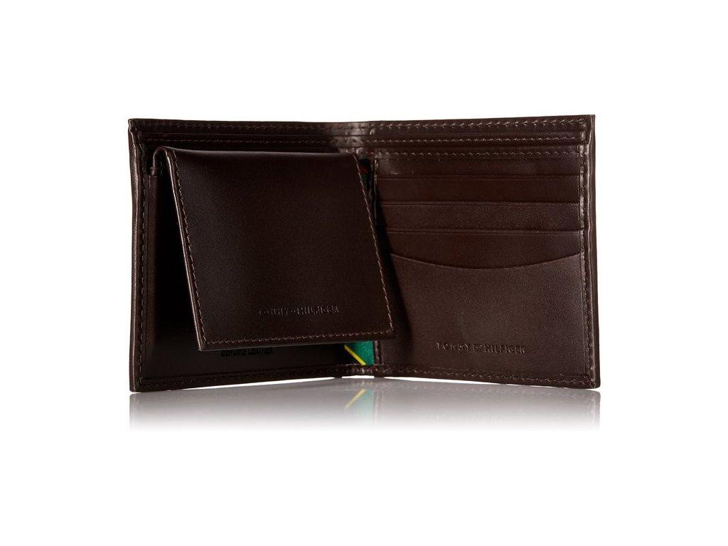 ... Pánská peněženka Tommy Hilfiger Men s Multi Card Passcase Brown ... 35a09c666e