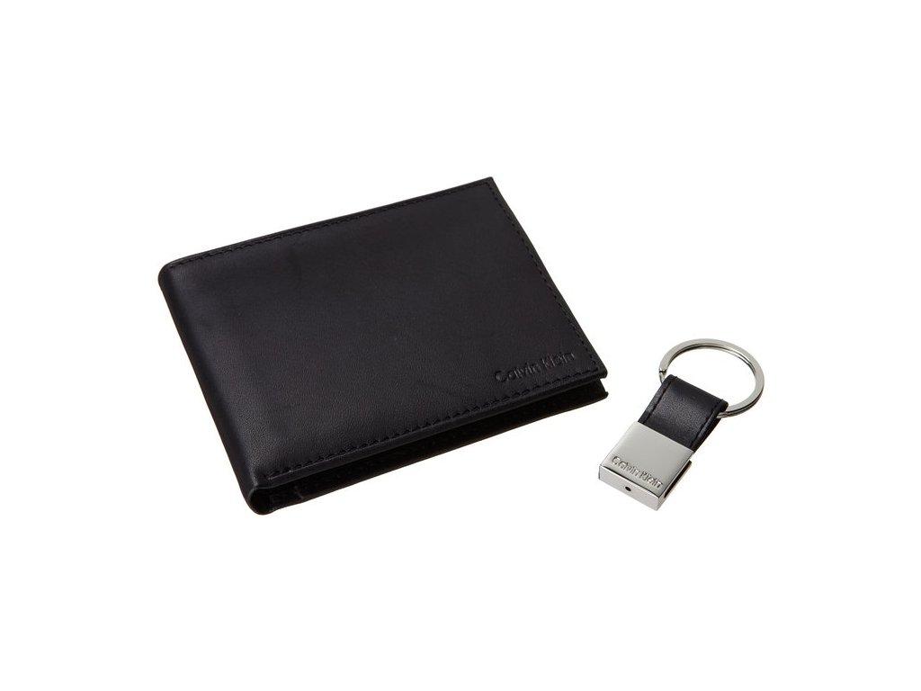 Calvin Klein pánská kožená peněženka černá s klíčenkou - Firstshop.cz f132ddf2cc8
