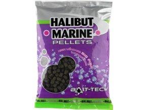 bait tech pelety s dirkou 8 mm 900 g halibut marine