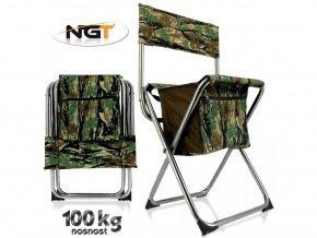 30935 3 skladaci rybarska stolicka ngt nomad quick folding stool s uloznym prostorem pod sedakem