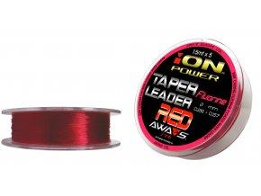 fluorine red taper leaders 0 26mm 15mt 5 leaders 10spools pack