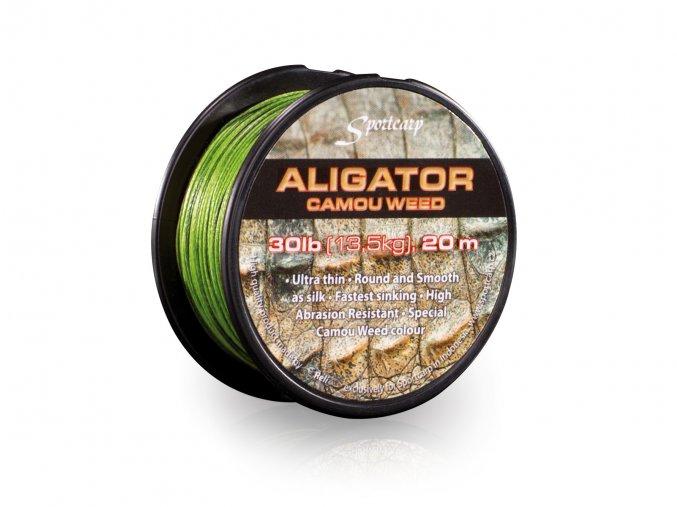 Sportcarp návazcová šňůrka Aligator Camou Weed 20m