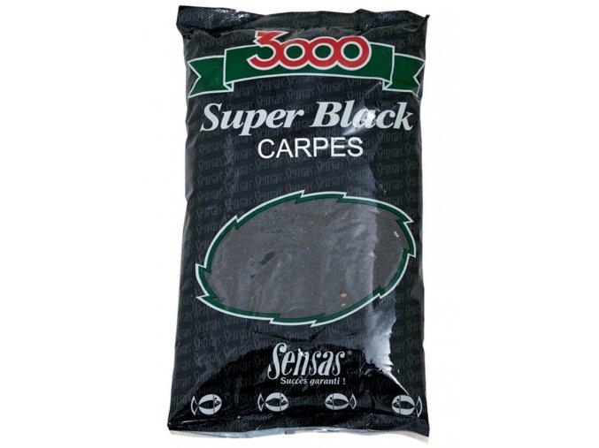 Sensas krmení 3000 Super Black Carp (kapr/černá) 1kg