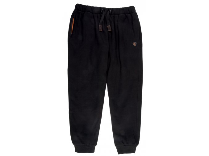Black & Orange Heavy Lined Joggers 1