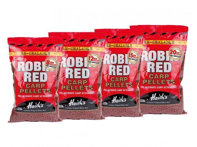 Dynamite Baits pelety Robin Red Pre-Drilled 900g