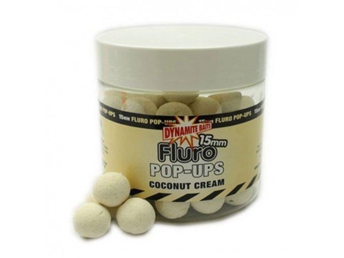 Dynamite Baits pop-ups Fluro Cocout Cream