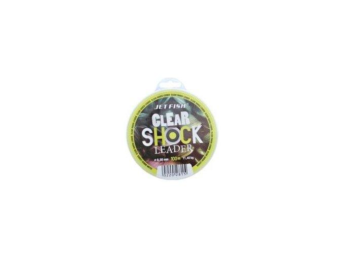 JET Fish šokový vlasec Clear Shock Leader 100m