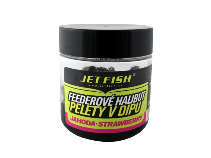 JET Fish feederové halibut pelety v dipu 12mm 120g