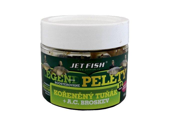 JET Fish Legend Range boosterované pelety Kořeněný tuňák + AC Broskev 120g