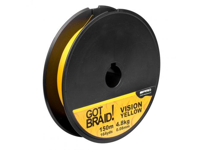 SPRO šňůra GOT BRAID! Vision Yellow 150m
