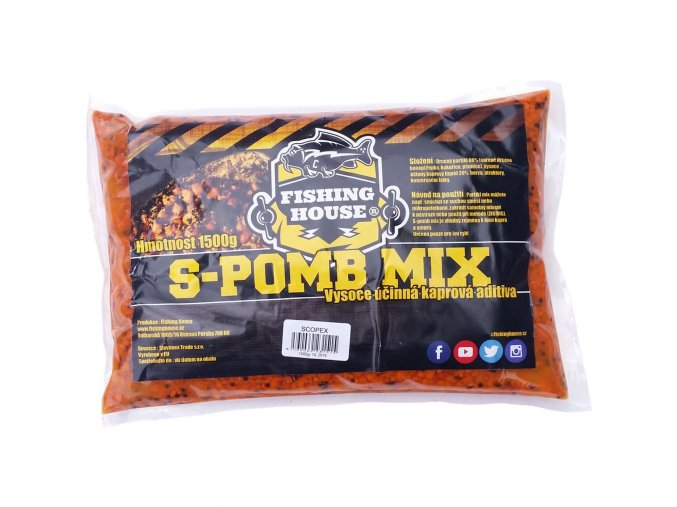 Fishing House partiklový S-pomb Mix Scopex 1,5kg