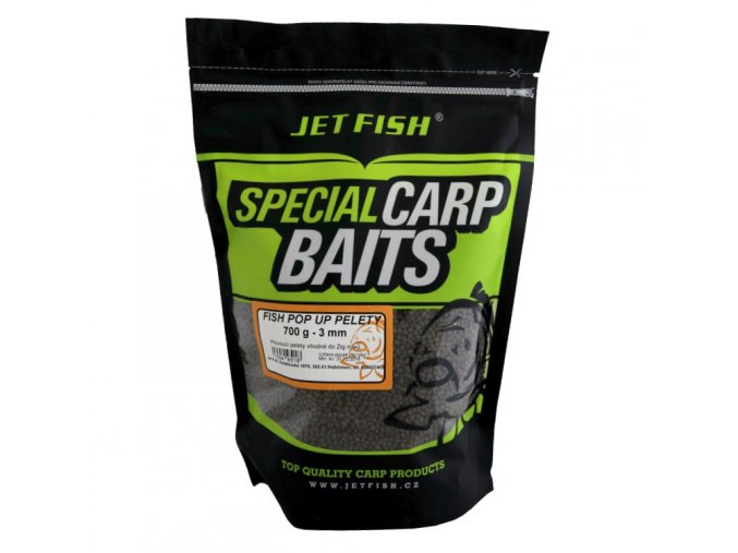JET Fish Special Carp Baits pelety Fish Pop-Up 3mm 700g