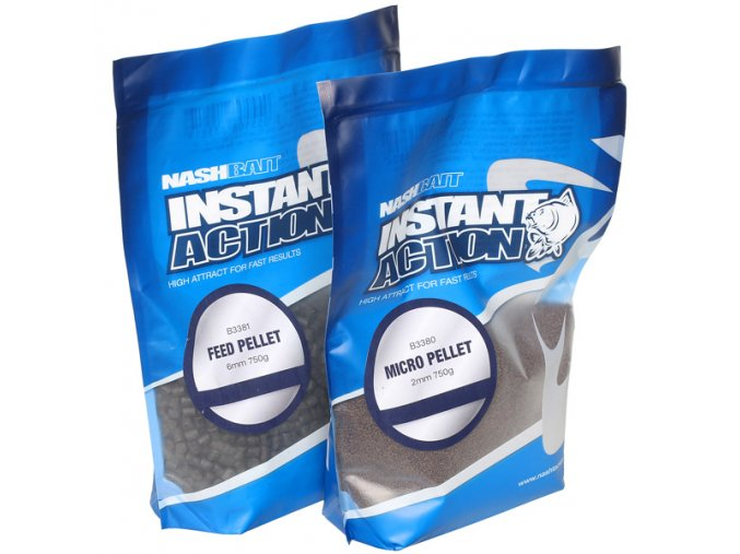 NashBait pelety Instant Action Feed Pellet 750g 6mm
