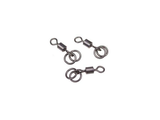 Nash obratlíky s dvěma kroužky Double Ring Swivels