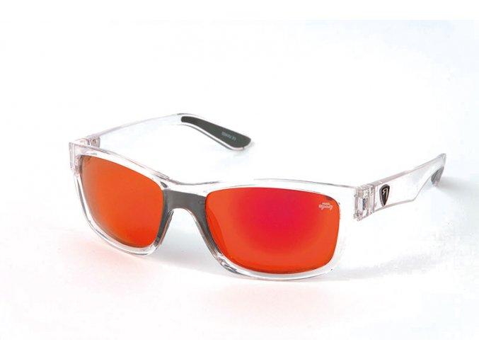 Transparent Frame:Red Mirror Lens Eyewear