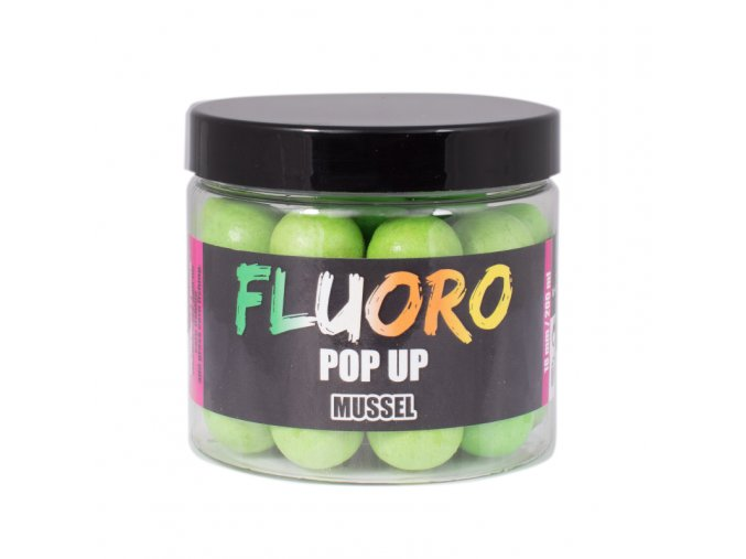 LK Baits Fluoro Pop-Up Mussel (zelená) 150ml + dip