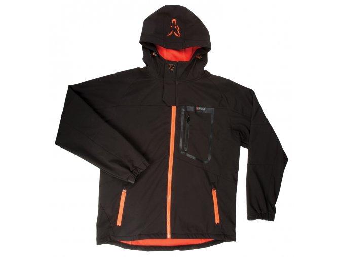Black & Orange Softshell Jacket 1