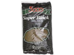 Sensas krmení 3000 Super Black Dark & Salty (řeka/černá/slaná) 1kg