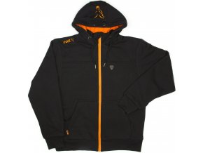 Black & Orange Heavy Lined Hoody 1