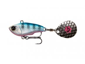 Fat Tail Spin Sinking Blue Silver Pink