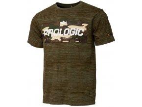 Bark Print T Shirt Burnt Olive Green 1