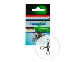Kamasaki trojité obratlíky Crossline Swivel Black