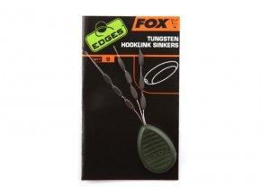 Fox stopery na návazce EDGES Tungsten Hooklink Sinkers 9ks
