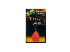 Fox zarážky EDGES Bait Bungs Clear 10ks