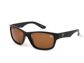 Matt Black Frame:Brown Lens Eyewear