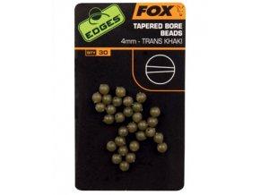 Fox gumové korálky EDGES Tapered Bore Beads