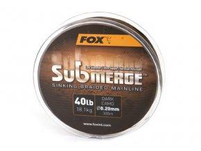 Fox pletená šňůra Submerge Dark Camo Sinking Braided Mainline