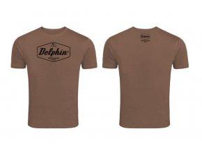 Delphin tričko Czechoslovakia - hnědá