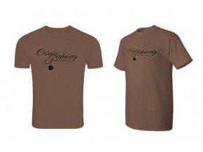 Delphin tričko Carp Fishing - hnědá