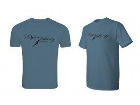Delphin tričko Spin Fishing - modrá