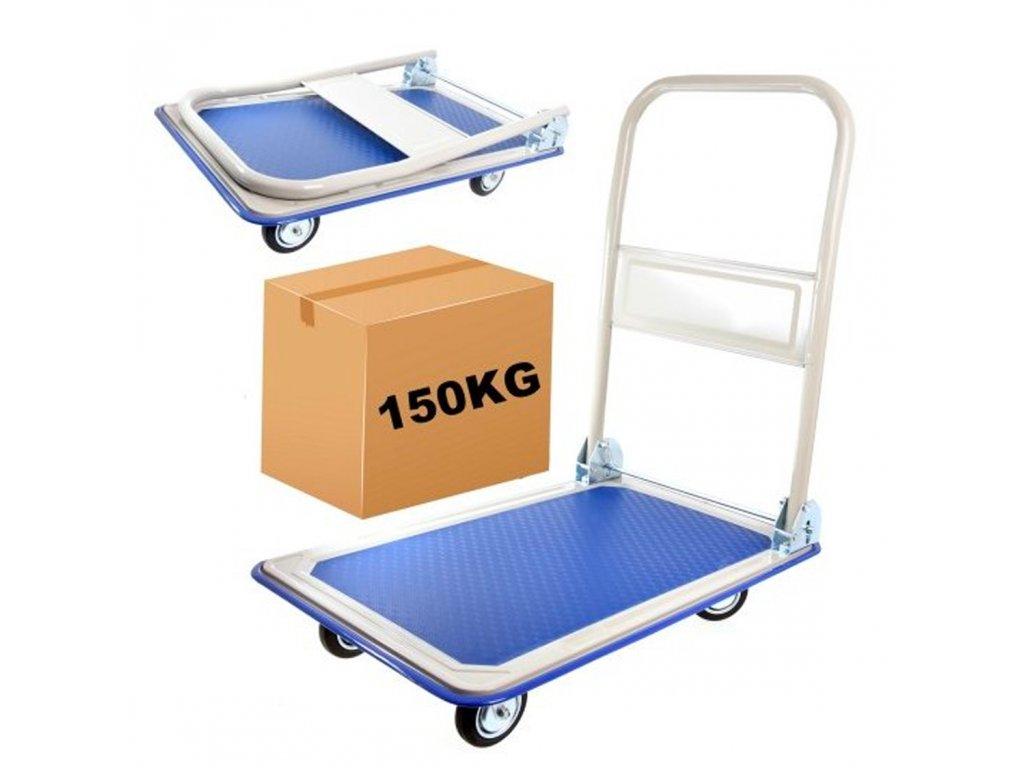 Přepravní skladový vozík plošinový 150 kg