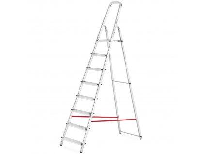 drabina aluminiowa domowa wolnostojaca higher 8 stopniowa
