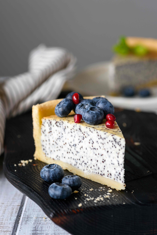 Tvarohový cheesecake s mákem